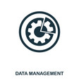 data management icon line style icon design ui vector image vector image
