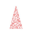 decorative christmas tree of christmas symbols vector image