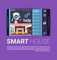 digital tablet with smart house control app vector image