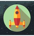 Digital with space rocket icon vector image