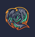 dragon mascot logo vector image vector image