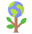 earth tree icon day related vector image vector image