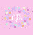 easter eggs confetti vector image