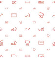 forecast icons pattern seamless white background vector image vector image