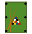 green pool table on white background vector image