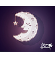 halloween of half light moon with craters s vector image vector image