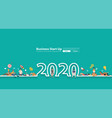 happy 2020 new year people group young online vector image