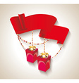 happy birthday design with gift boxes and red vector image vector image