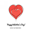 heart valentines day vector image vector image