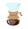 icon for coffee menu design vector image