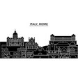 italy rome architecture city skyline vector image vector image