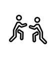 martial arts people icon outline vector image vector image