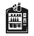 medical vending machine icon simple style vector image