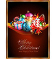 Merry Christmas Elegant Suggestive Background vector image vector image