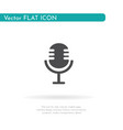 microphone icon for web business finance and vector image vector image