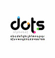 modern font design trendy alphabet letters vector image vector image