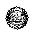 monochrome with metal caps for beer vector image vector image