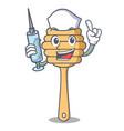 nurse honey spoon character cartoon vector image