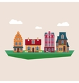 Old Traditional Eurpoean Vintage Houses vector image vector image
