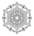 oriental mandala coloring page vector image vector image