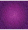 purple number background vector image