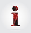 Red black tartan icon - information symbol vector image