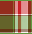 red green abstract plaid seamless pixel pattern vector image vector image