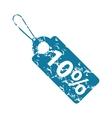 Sale 10 percent grunge icon vector image vector image