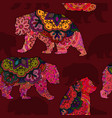 seamless decorative pattern with bear vector image vector image