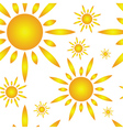 seamless pattern with sun vector image vector image