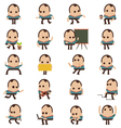 set businessman characters poses and animation vector image vector image