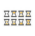 set of hourglass sprites for vector image vector image