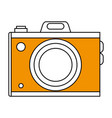 sketch color silhouette analog camera with flash vector image vector image