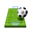 soccer or football field or ground isolated icon vector image