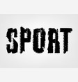 sport tire lettering vector image