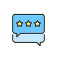 star in chats best choice positive vector image