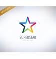 Star logo icon Leader winner rank or vector image