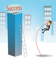 Success Jumping vector image vector image
