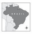 the map of brazil vector image vector image