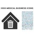 Trash House Icon with 1000 Medical Business vector image vector image