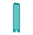 urban building edifice isolated vector image