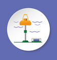 wave energy station icon in flat style on round vector image