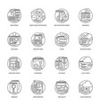 web development line icons 1 vector image vector image