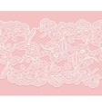 White seamless lace pattern on a pink background vector image vector image