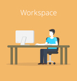 Workspace vector image