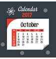 calendar october 2017 template icon vector image
