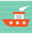 bright summer boat vector image