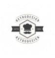 Restaurant Design Element in Vintage Style for vector image