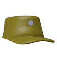 3d on white background a brown military cap vector image