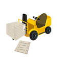 A Forklift Truck Loading Open Shipping Box vector image vector image